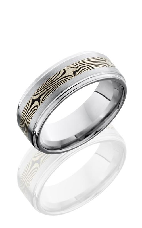 Lashbrook Cobalt Chrome Wedding band CC8FGE13-M14KWSH SATIN-POLISH product image