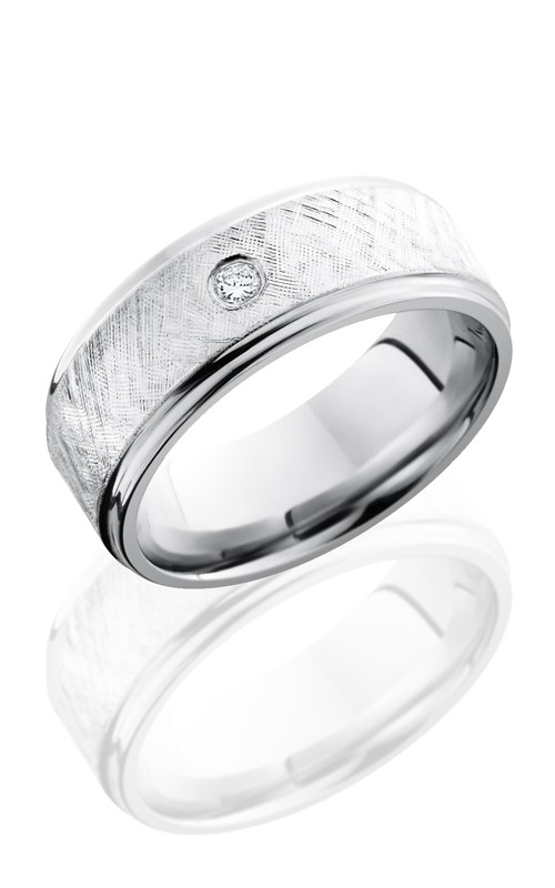 Lashbrook Cobalt Chrome Wedding band CC8FGE16-SSDIA.07 FLORENTINE product image