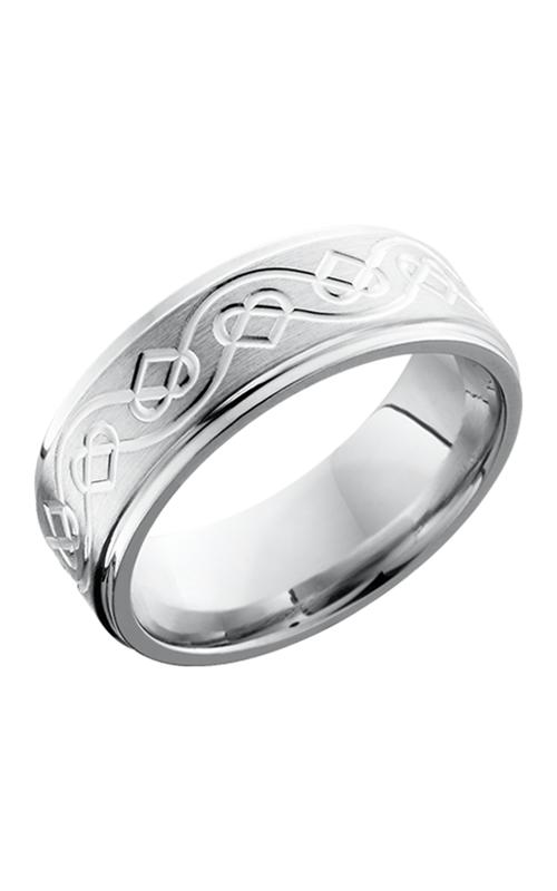 Lashbrook Cobalt Chrome Wedding band CC8FGECELTICHEART SATIN-POLISH product image