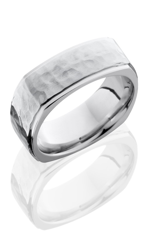 Lashbrook Cobalt Chrome Wedding band CC8FGESQ HAMMER-POLISH product image