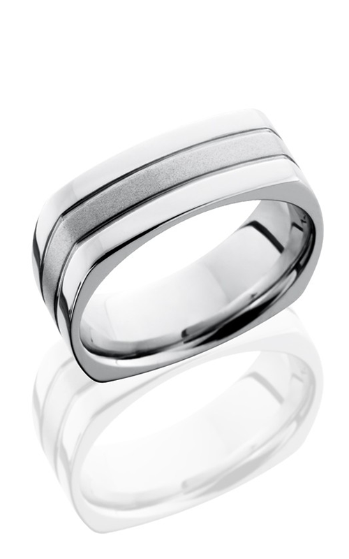 Lashbrook Cobalt Chrome Wedding band CC8FSQ2.5 BEAD-POLISH product image