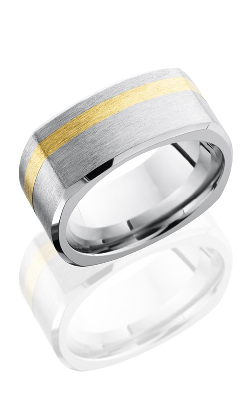 Lashbrook Cobalt Chrome Wedding band CC9BSQ12OC-14KY SATIN-POLISH product image