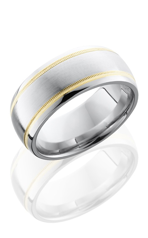 Lashbrook Cobalt Chrome Wedding band CC9D21W-14KYMIL SATIN-POLISH product image