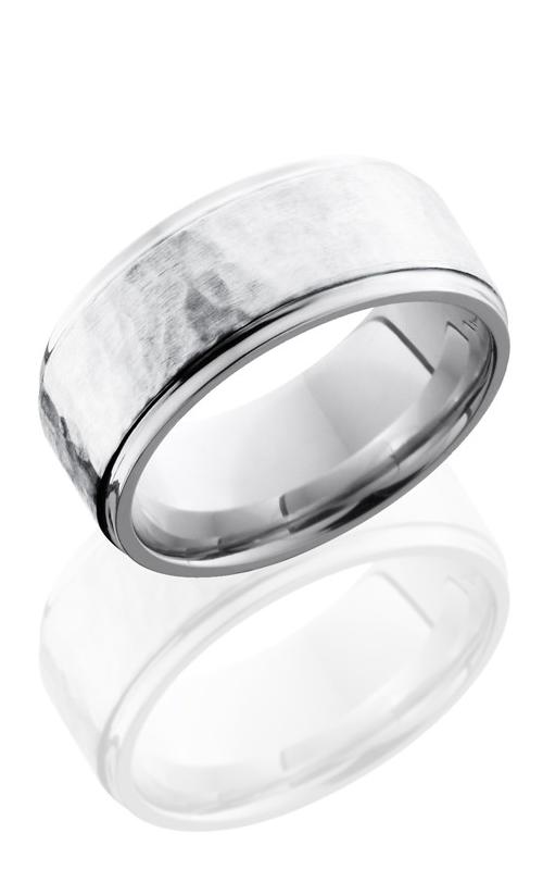 Lashbrook Cobalt Chrome Wedding band CC9FGE16-SS HAMMER-POLISH product image