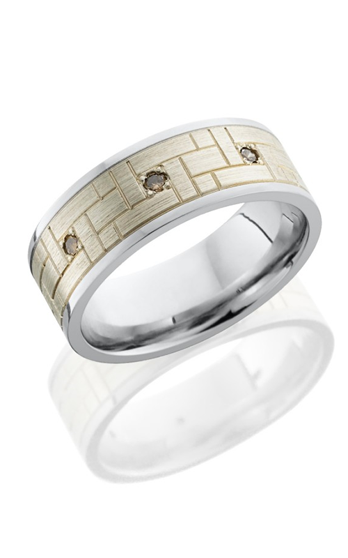 Lashbrook Cobalt Chrome Wedding band CC8F16 SS VERSAILLSCHOCDIA3X. product image