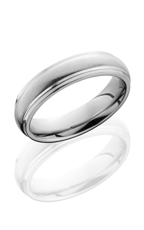 Lashbrook Cobalt Chrome Wedding band CC5DGE ANGLE SATIN POLISH product image