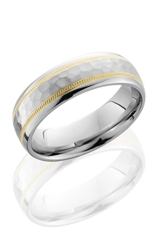 Lashbrook Cobalt Chrome Wedding band CC6D21W 14KYMIL HAMMER POLISH product image
