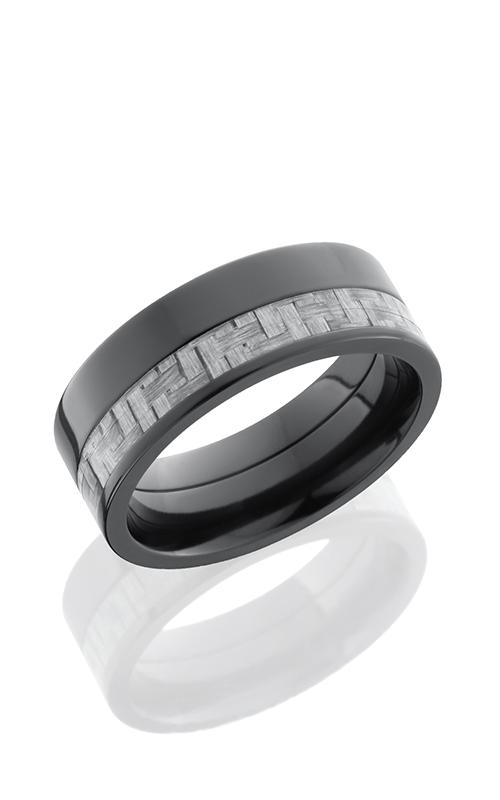 Lashbrook Carbon Fiber Wedding band ZC8F13OC SILVERCF POLISH product image