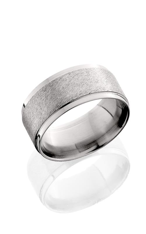 Lashbrook Titanium Wedding band 10FGEW Angle Stone Polish product image