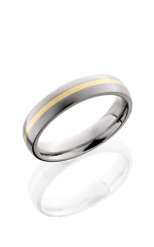Lashbrook Titanium Wedding band 5D11 14KY SATIN product image