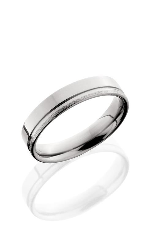 Lashbrook Titanium Wedding band 5F1.5OC POLISH STONE product image