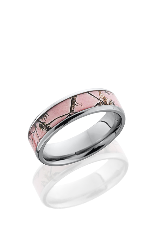 Lashbrook Titanium Wedding band 6B14 NS PINKRTAP POLISH product image
