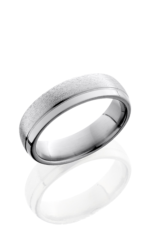 Lashbrook Titanium Wedding band 6D1.5OC STONE POLISH product image
