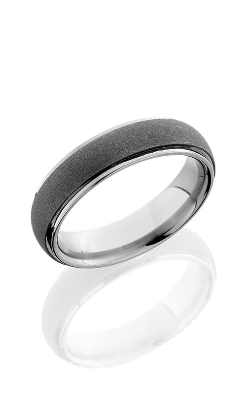 Lashbrook Titanium Wedding band 6DGE SANDBLAST POLISH product image