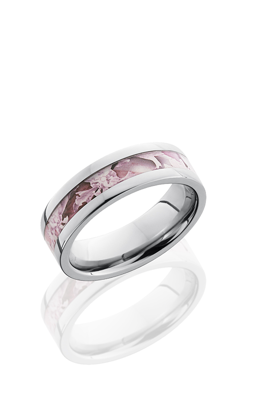 Lashbrook Titanium Wedding band 6F13 KINGSPINK POLISH product image