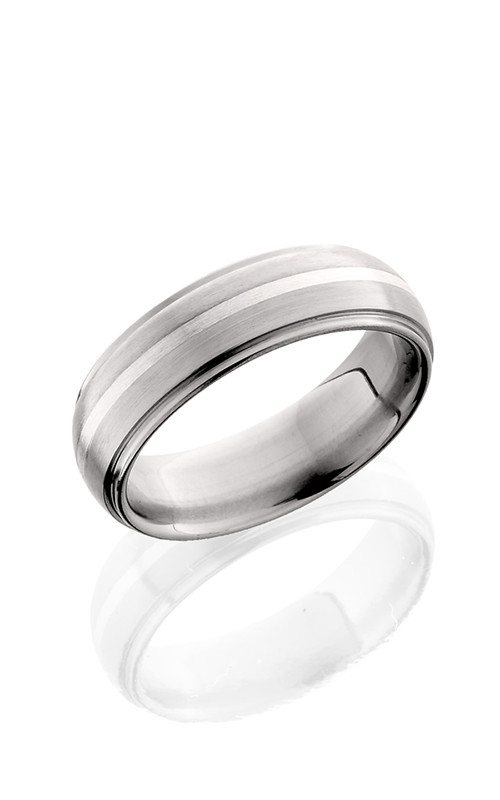Lashbrook Titanium Wedding band 7DGE11 SS SATIN POLISH product image