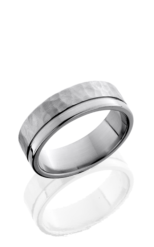 Lashbrook Titanium Wedding band 7F1.5OC HAMMER POLISH product image