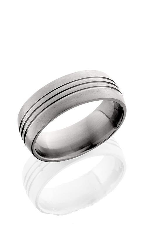 Lashbrook Titanium Wedding band 8D3.5 CROSS BRUSH product image