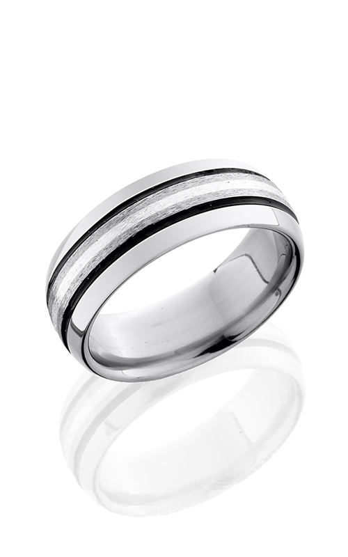 Lashbrook Titanium Wedding band 8D31 SSA STONE POLISH product image