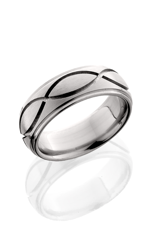 Lashbrook Titanium Wedding band 8DGEINF SATIN POLISH product image