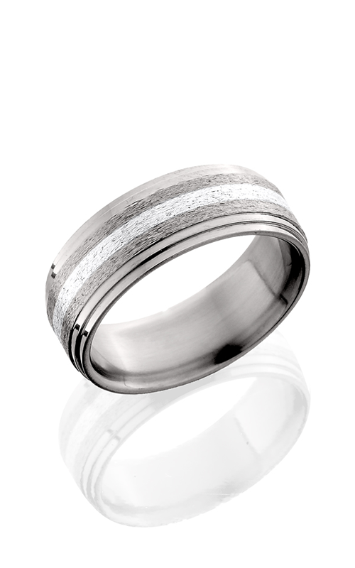 Lashbrook Titanium Wedding band 8F2S12 SS STONE POLISH product image