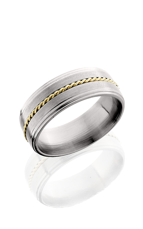 Lashbrook Titanium Wedding band 8FGE11 14KYBRAID product image
