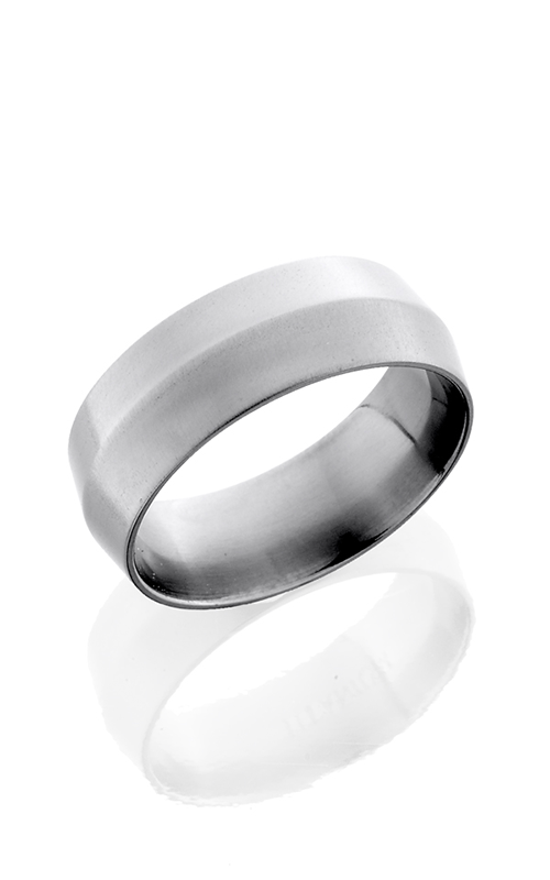 Lashbrook Titanium Wedding band 8P CROSS BRUSH product image