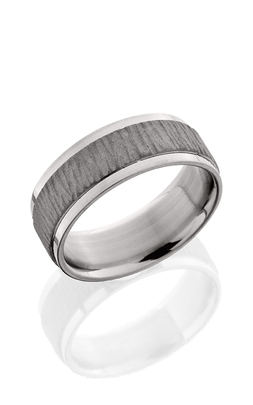 Lashbrook Titanium Wedding band 8FGEW TREEBARK 1 SAND POLISH product image