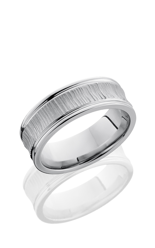 Lashbrook Cobalt Chrome Wedding band CC8REC TREEBARK 1 product image