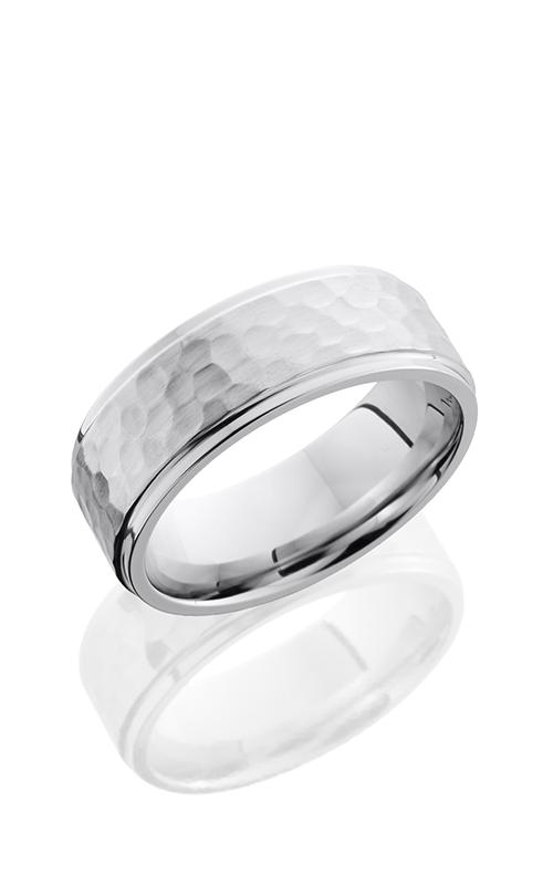 Lashbrook Cobalt Chrome Wedding band CC8FGE HAMMER-POLISH product image
