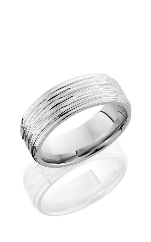 Lashbrook Cobalt Chrome Wedding band CC8FGE TREEBARK 3-POLISH product image