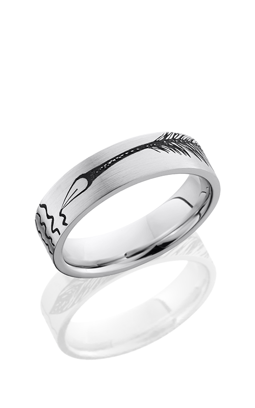 Lashbrook Cobalt Chrome Wedding band CC6F LCVFEATHERPEN product image