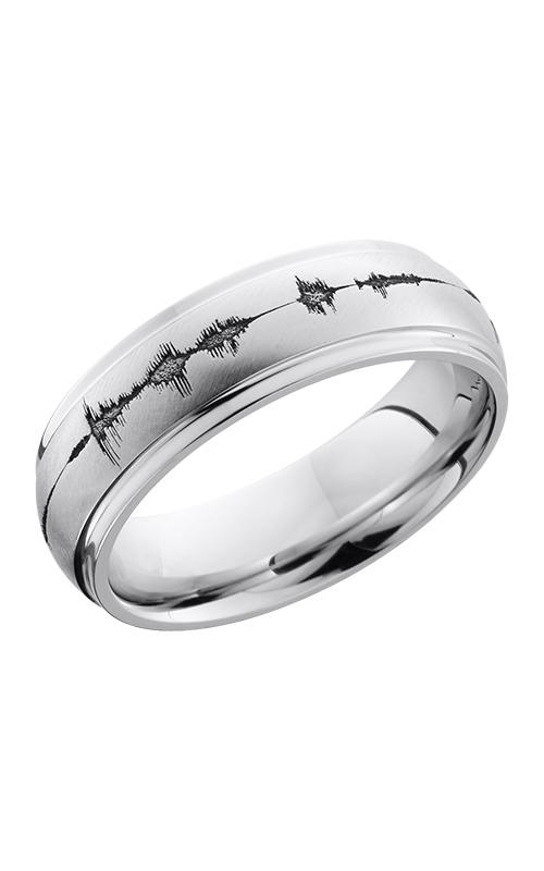 Lashbrook Cobalt Chrome Wedding band CC7DGE LCVSOUNDWAVE product image