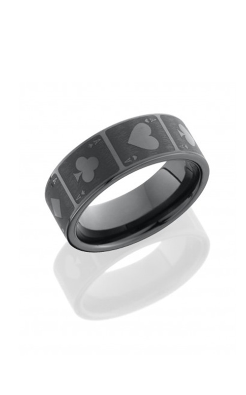 Lashbrook Tungsten Ceramic Wedding band CR8FLASERCARDS product image