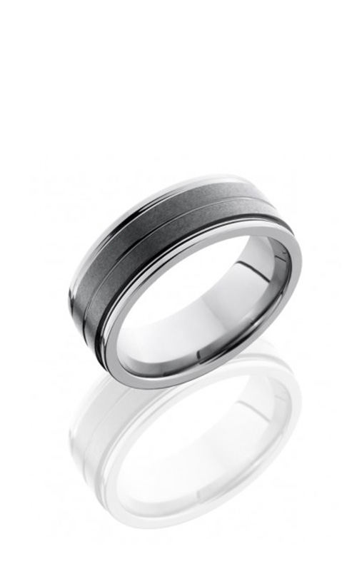 Lashbrook Tungsten Ceramic Wedding band TCR8422-STONE product image