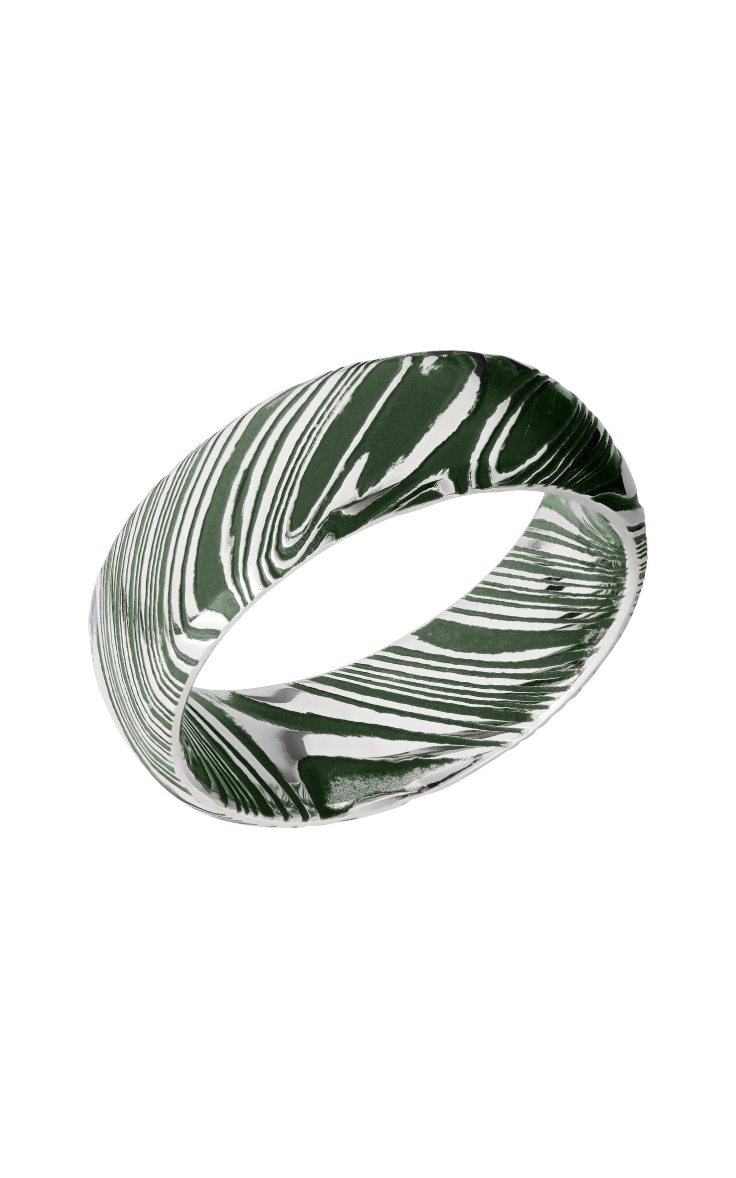 Lashbrook Damascus Steel D8DWOODGRAIN_EASTERNGREENALL product image