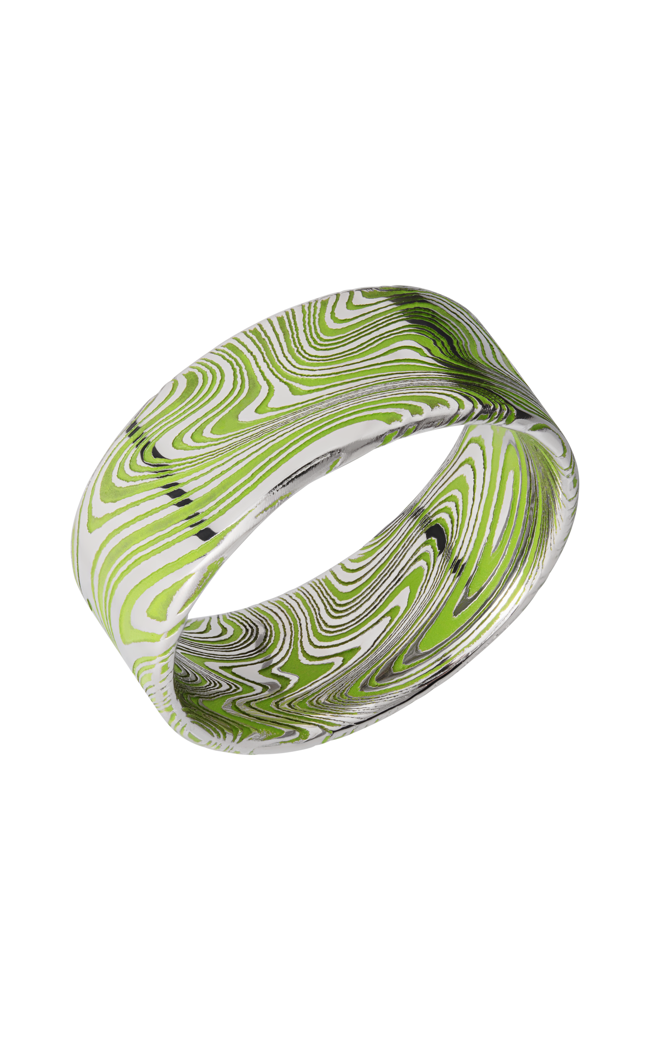 Lashbrook Damascus Steel D9FRMARBLE_ZOMBIEGREENALL product image