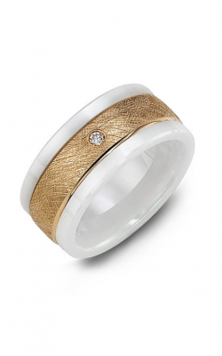 Madani Alternative Metal Gold Prestige Wedding Band MWV914IP-3R product image