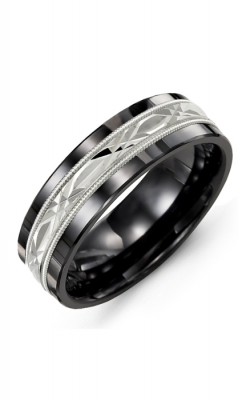 Madani Alternative Metal And Gold Wedding Band MAB714CW product image