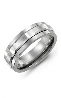 Madani Alternative Metal And Gold Wedding Band MAD714BW product image