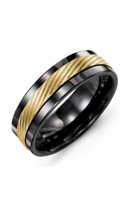 Madani Alternative Metal And Gold Wedding band MAE714CY product image