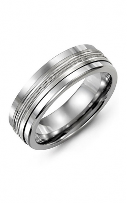 Madani Alternative Metal And Gold Wedding band MAF714BW product image