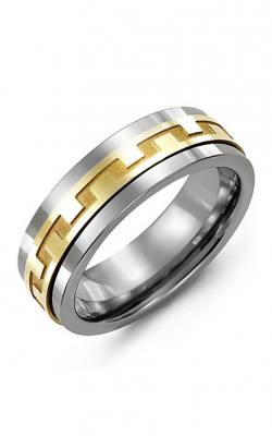 Madani Alternative Metal And Gold Wedding Band MAA714BY product image