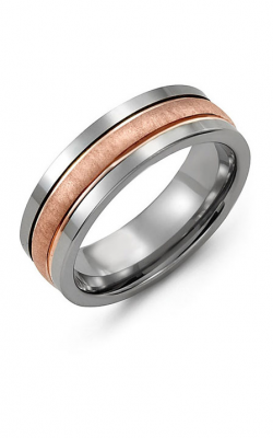 Madani Alternative Metal And Gold Wedding Band MAG714TP product image