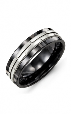 Madani Alternative Metal And Gold Wedding Band MAI714CW product image