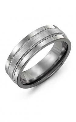 Madani Alternative Metal And Gold Wedding Band MAK714TW product image