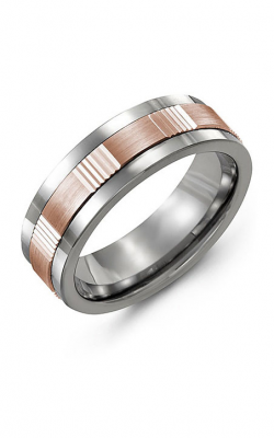 Madani Alternative Metal And Gold Wedding Band MAN714BP product image