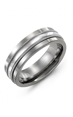 Madani Alternative Metal And Gold Wedding band MAO714TW product image