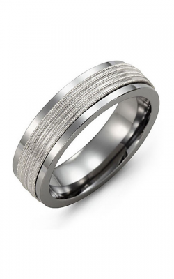 Madani Alternative Metal And Gold Wedding Band MAQ714TW product image