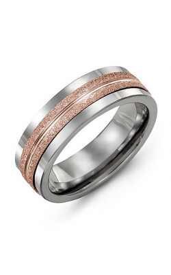 Madani Alternative Metal And Gold Wedding band MAR714TP product image